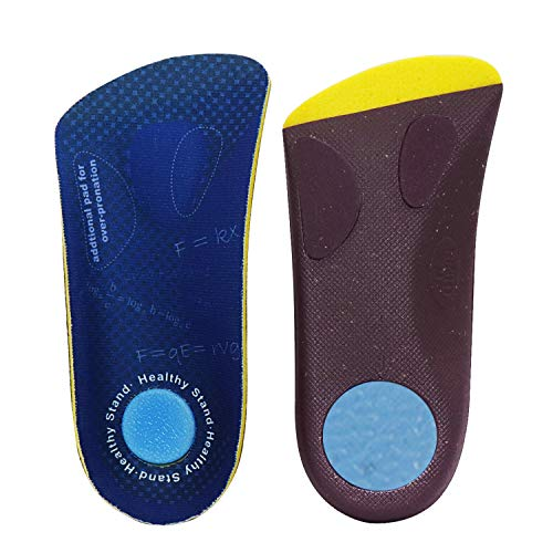 Healthy Stand 3/4 Length Orthotics Insoles for Men Work Boots, Arch Support Shoes Insert with Metatarsal pad, Over-Pronation Feet Fatiguefit for Men Women,Insoles for Flat feet (L)