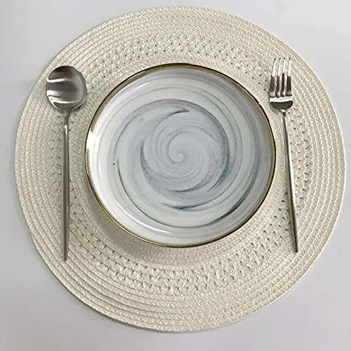 XUJING Rotondo tessuto tavolo pad stile semplice cena pasto cibo sciarpa pad anti-calore consegna torre cuscino cucina festa decorazione
