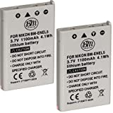 BM Premium 2-Pack of EN-EL5 Batteries for Nikon Coolpix P80, P90, P100, P500, P510, P520, P530 Digital Camera