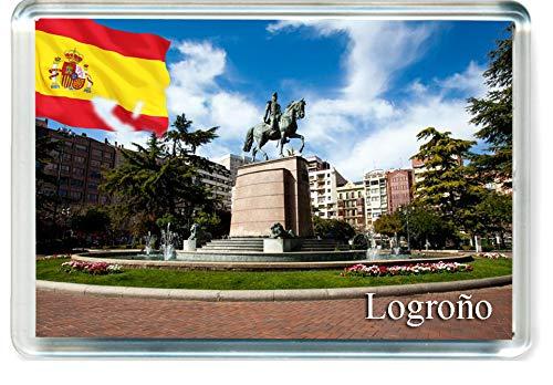 H324 Logroño Imán para Nevera Spain Travel Fridge Magnet
