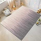 Xiaosua cojín meditación Gris Sala de Estar Gris Rayas abstractas Moderno patrón Durable Alfombra Antideslizante alfombras de Gateo 80X160CM Decoracion Bebe habitacion 2ft 7.5''X5ft 3''