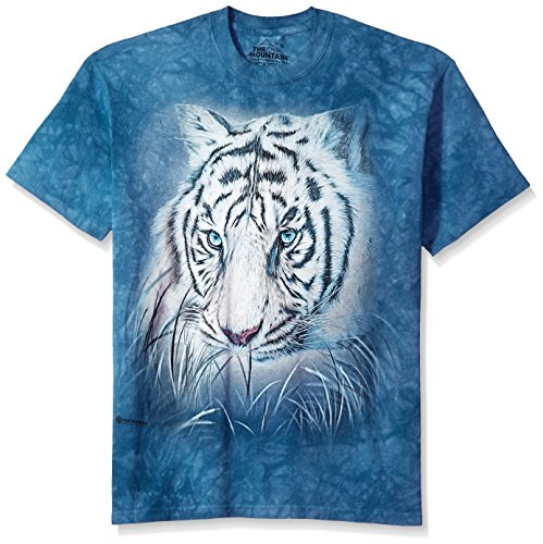 The Mountain Thoughtful White Tiger Adult T-Shirt, Blue, 2XL