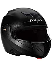 Generic vega crux crx-b-l flip-up helmet (black, m)