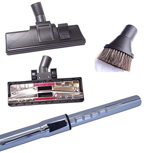 Staubsaugerrohr 32mm, Hartbodendüsen & Saugpinsel kompatibel für Hanseatic Fresh 1800 Staubsauger