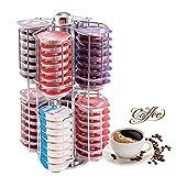 AllRight Kapselständer Kapselspender Kapselhalter Metall für 64 Nespresso Kaffee Kapseln