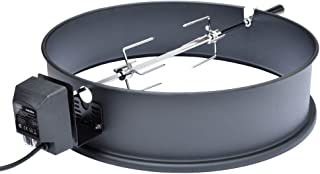 Onlyfire Universal High-Temp Resistance Black Coated Steel Charcoal Kettle Rotisserie Ring Kit for Weber 2290 and Other Models