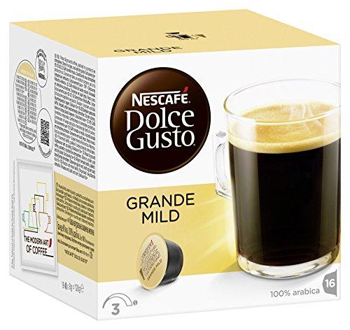 NESCAFÉ Dolce Gusto Grande Mild 16 Kaffeekapseln (100% Arabica Bohnen, Mildes Aroma und feine Crema, Leicht bekömmlich, Aromaversiegelte Kapseln) 1er Pack (1 x 16 Kapseln)