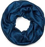styleBREAKER fular de tubo ligero y suave en monocolor, fular de tubo, pañuelo, unisex 01017063, color:Azul oscuro