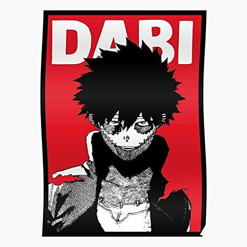 Manga Dabi Bnha Boku Anime My Mha Hero No Academia Regalo para la decoración del hogar Wall Art Print Poster 11.7 x 16.5 inch