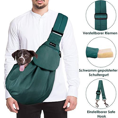 SlowTon Tragetuch Hund, Katze Haustier Hand Schleuderträger Schultertasche Verstellbare Gepolsterte Schultergurt mit Fronttasche hundetragebeutel Metro Outdoor