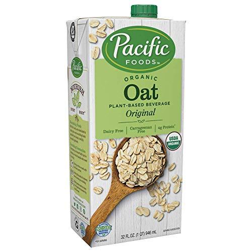 Pacific Foods Organic Oat Original Plant-Based Milk, Organic Oat - Original, 32 Fl Oz (Pack of 12)