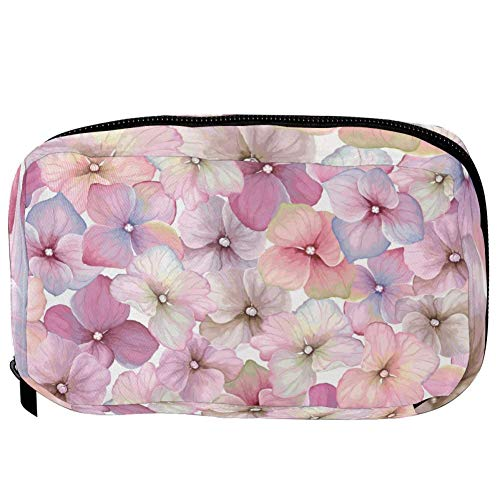 TIZORAX Cosmetic Bags Blossom Pink Flowers Handy Toiletry Travel Bag Organizer Makeup Pouch for Women Girls