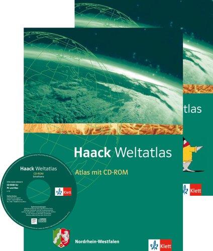 Haack Weltatlas. Ausgabe Nordrhein-Westfalen Sekundarstufe I: Atlas mit CD-ROM und Arbeitsheft Kartenlesen Klasse 5-10