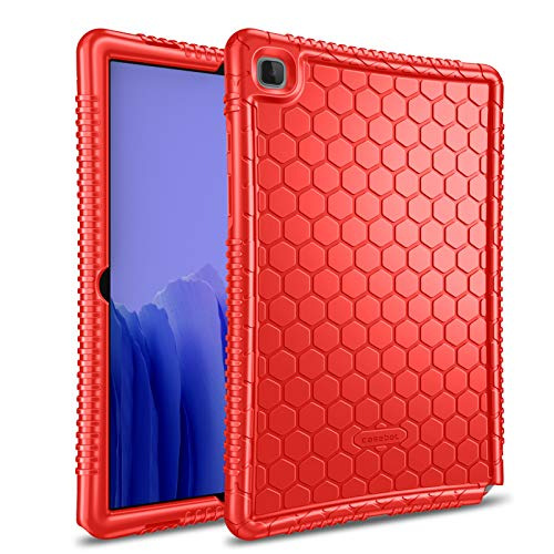 Fintie Schutzhülle für Samsung Galaxy Tab A7 10.4 2020 Modell (SM-T500/T505/T507), Honey Comb Serie Kinderfre&lich, leicht, stoßfest, Rot