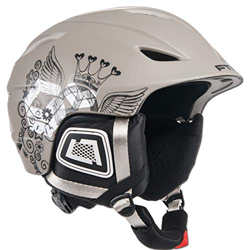 Ftwo Bloom Damen Ski & Snowboard Wintersport Helm Grey GR. L 58-60 cm
