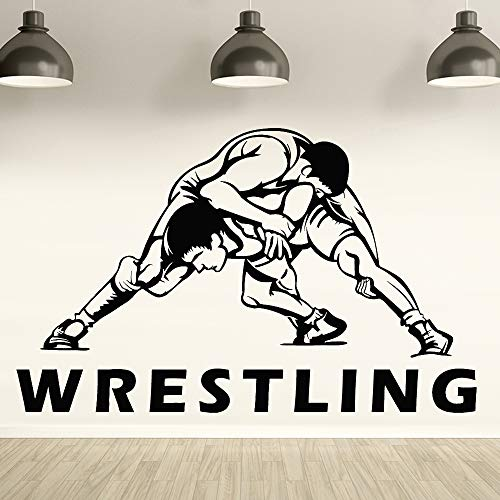 yaofale Wrestling Wandtattoo Fitnesscenter Art Deco Kampf Athleten gegen Sport Vinyl Wandaufkleber Männer Höhle Home Decoration