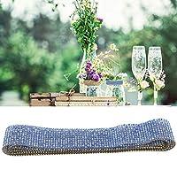 ダイヤモンドメッシュ、ラインストーンDIYステッカーダイヤモンドリボン結婚式用パーティー用品パーティーデコレーション用の完璧なウェディングケーキ(blue)