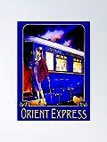 Orient Express Vintage Train Passenger Travel Print B
