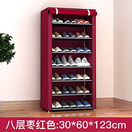 LKU Schoenrek Stofdicht 8-laags 10-laags schoenenkast schoenenrek stoffen meubels thuis slaapzaal schoenenrek