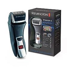 Remington Elektrischer Rasierer Herren F7800 (+LED Minuten-Display, Netz-/Akkubetrieb), Trocken-Rasierapparat, Präzisionstrimmer, Abwaschbar (Folienrasierer)©Amazon