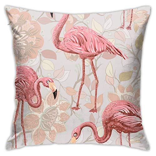 Funda de cojín Throw Cojín Throw Pillow Case Flamencos Funda de Almohada 45X45CM