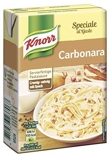 Knorr Speciale al Gusto Carbonara Soße, 8er-Pack (8 x 370 g)