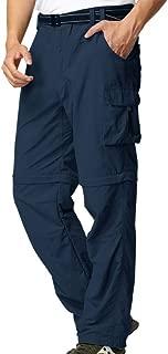 Mens Hiking Convertible Pants Lightweight Zip Off Fishing Safari Outdoor Quick Dry Cargo Work Trousers