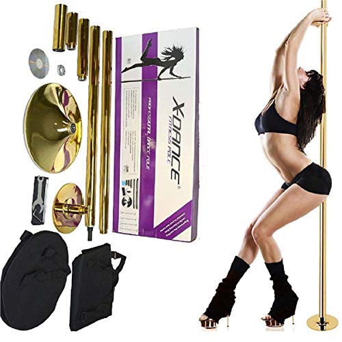 HFJ&YIE&H Abnehmbare Tanzen Pole Kit Portable Stripper Pole Spinning und Static Tanzstange Kit Removable Fitnessübung Tanzen Pole