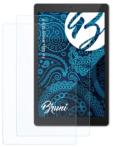 Bruni Schutzfolie kompatibel mit Odys Wintab GEN 8 Folie, glasklare Bildschirmschutzfolie (2X)