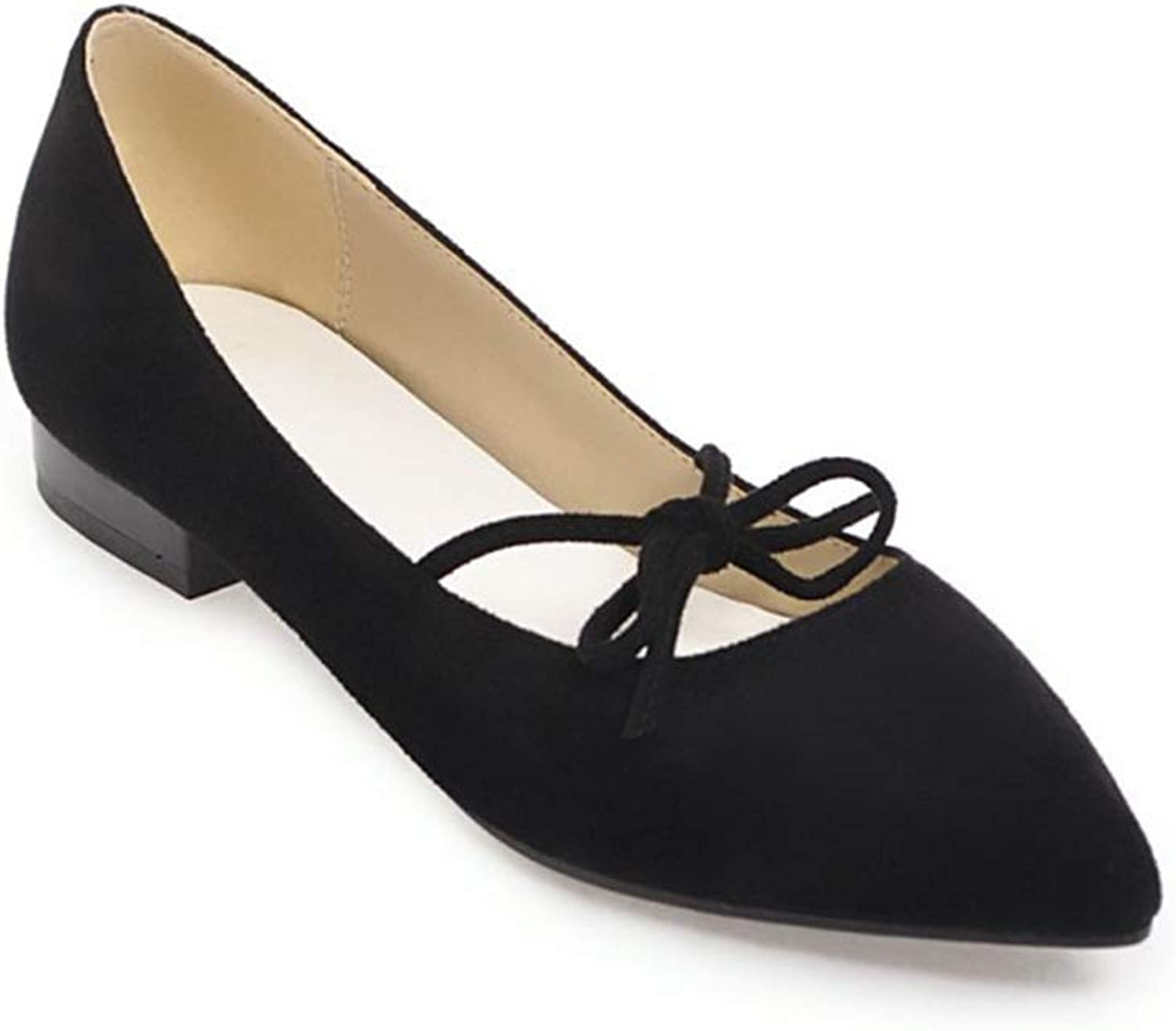 Fashion Ballet Flats for Women,Pointed Toe Breathable Walking shoes, Elegant Suede Loafers