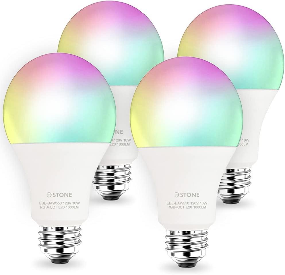 Smart Light Bulbs 3Stone 16W 1600 Lumens service Color WiFi Changin LED Ranking TOP11