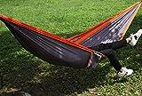 YSCYLY Hamac de Voyage Respirant Portable,Hamac en Nylon Simple/Double,Fait en Toile de Parachute en Nylon résistant