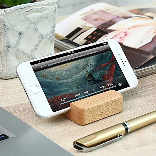 オーディオファンスマートフォンスタンド木製モバイルスタンド