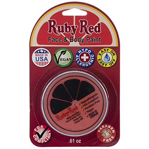 Ruby Red Face Paint .61oz-Orange