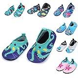 Barerun Baby Water Shoes Barefoot Skin Aqua Sock Swim Shoes for Beach Swim Pool Green 12-18 Months Infant
