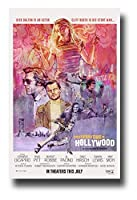 キャラクターポスター、映画のポスター、昔々のハリウッドレオナルドディカプリオブラッドピット両方のポスター サイズA3(42x30cm)、素晴らしい室内装飾品
