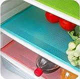 4 alfombrillas de frigorífico antibacterianas y antimoho, para frigorífico y...