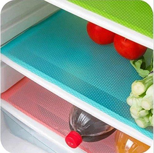 Frmarche 4 Alfombrillas de frigorífico antibacterianas anti