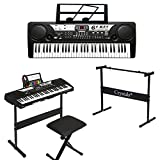 61 Key Electronic Piano Keyboard MP3 Digital Instrument with Music Chair + Piano Stand by Crystals® - Best Reviews Guide