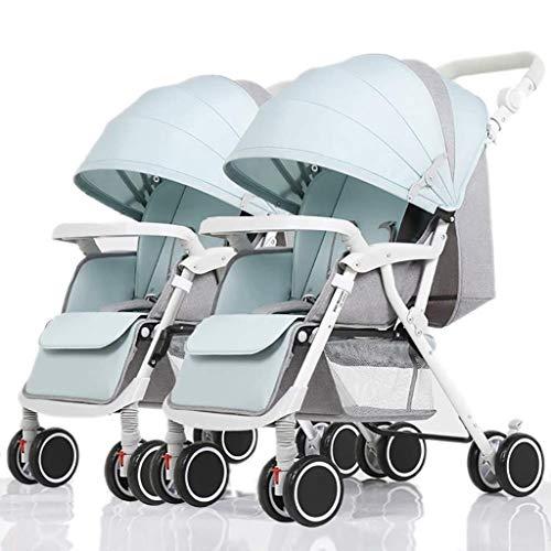 Buy Discount XZHSA Lightweight Double Stroller Baby Twins Stroller Folding Stroller Newborn -3 Years...