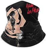 FDGRF Anuel AA Real Hasta La Muerte Face Cover Scarf Neck Gaiter Multifunctional Headwrap Motorcycle Balaclava Black