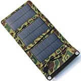 Portable 5.5V Safety Solar Chargers For Outdoor Cellphones Charging And Other Moblie Devices,Camouflage JAYLONG 5W Foldable Solar Panel