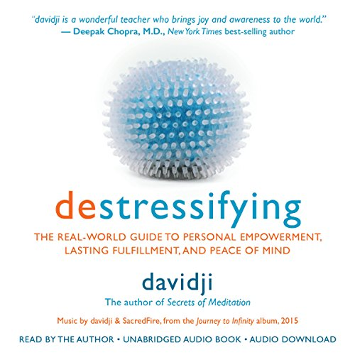 destressifying audiobook cover art