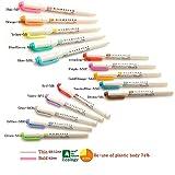 Zebra–Lot de 3 paquets de 5 stylos surligneurs souples, à deux pointes