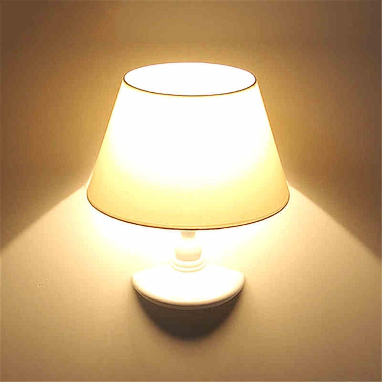 Xiuxiu Einfache und moderne Hotel warme Nachttischlampe Kreative Persnlichkeit Studie Flur Flur Lampe Schlafzimmer halbe Wandlampe Dekorative Wandleuchte (Farbe   Wei)