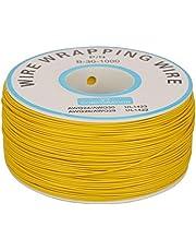 Koperen gehard draad, hoge temperatuur bestendige geblikte rol koper elektrische draad 0,25 mm, 30 AWG gaas geleider strengen van enkele getinte koper draad Geel