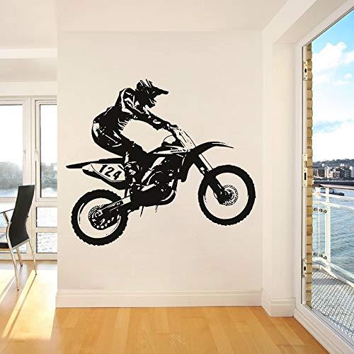 ASFGA Dirt Bike Motocross Wall Decal Cool Style Window Vinyl Sticker Teen Bedroom Man Cave Club Home Decor Wallpaper