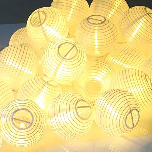 Kesoto 30 LED Lantern String Lights Decorative Stringed LED String Lights Lanterns for Outdoor, Indoor, Garden, Patio, Bedroom Wedding Decorations (Warm White, 15 Ft)