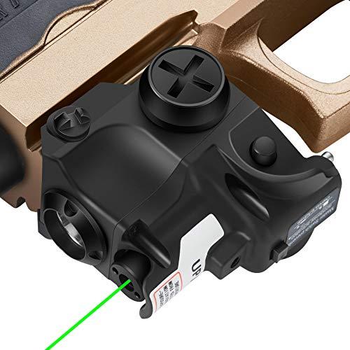 Pinty Laser Sight Combo Green Laser 80-100 Lumen LED Flashlight Tactical Green Dot Sight for Handgun Pistols, Designed for 20mm Picatinny Rail Mount Systems, Laser ClassIIIa, Laser Power Less Than 5mW