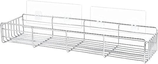 XINHU 27.5CMX 11,5 cm x 11,8cm Badkamer plank opslag keuken plank met naadloze transparante lijm zonder boren roestvrijsta...